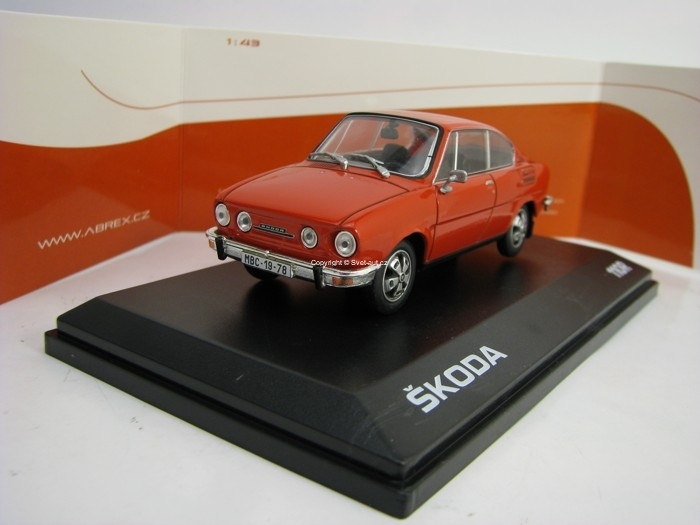 Škoda 110R Coupé 1980 Racing Red 1:43 Abrex
